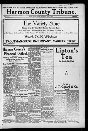Primary view of object titled 'Harmon County Tribune. (Hollis, Okla.), Vol. 4, No. 42, Ed. 1 Friday, June 12, 1914'.