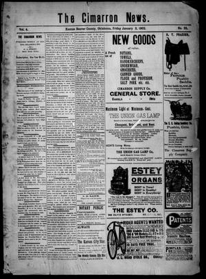Primary view of object titled 'The Cimarron News. (Kenton, Okla.), Vol. 4, No. 22, Ed. 1 Friday, January 3, 1902'.