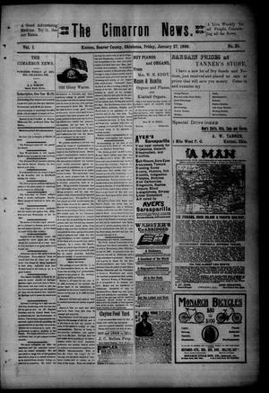 Primary view of object titled 'The Cimarron News. (Kenton, Okla.), Vol. 1, No. 25, Ed. 1 Friday, January 27, 1899'.