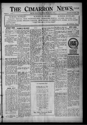 Primary view of object titled 'The Cimarron News. (Boise City, Okla.), Vol. 25, No. 6, Ed. 1 Thursday, September 7, 1922'.