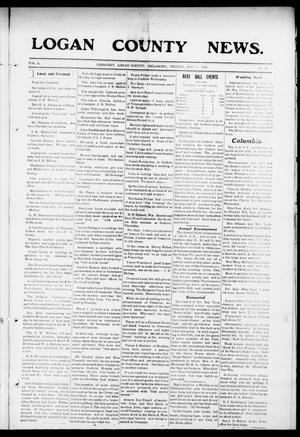 Primary view of object titled 'Logan County News. (Crescent, Okla.), Vol. 4, No. 31, Ed. 1 Friday, May 8, 1908'.