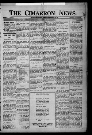 Primary view of object titled 'The Cimarron News. (Boise City, Okla.), Vol. 25, No. 26, Ed. 1 Thursday, January 25, 1923'.