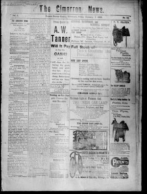 Primary view of object titled 'The Cimarron News. (Kenton, Okla.), Vol. 5, No. 22, Ed. 1 Friday, January 2, 1903'.