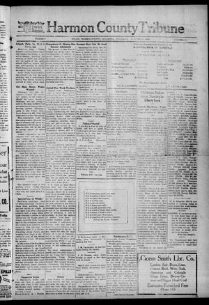Primary view of object titled 'Harmon County Tribune (Hollis, Okla.), Vol. 9, No. 11, Ed. 1 Thursday, October 31, 1918'.