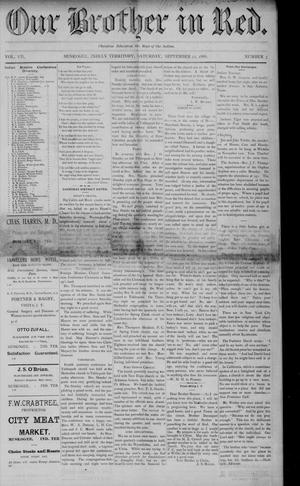 Primary view of Our Brother in Red. (Muskogee, Indian Terr.), Vol. 7, No. 3, Ed. 1 Saturday, September 22, 1888