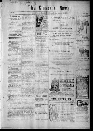 Primary view of object titled 'The Cimarron News. (Kenton, Okla.), Vol. 3, No. 52, Ed. 1 Friday, August 2, 1901'.
