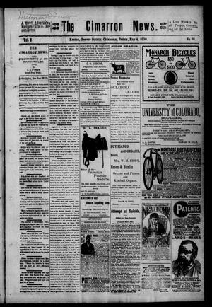 Primary view of object titled 'The Cimarron News. (Kenton, Okla.), Vol. 2, No. 39, Ed. 1 Friday, May 4, 1900'.