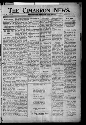 Primary view of object titled 'The Cimarron News. (Boise City, Okla.), Vol. 25, No. 31, Ed. 1 Thursday, March 1, 1923'.