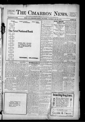 Primary view of object titled 'The Cimarron News. (Boise City, Okla.), Vol. 14, No. 28, Ed. 1 Thursday, January 25, 1912'.