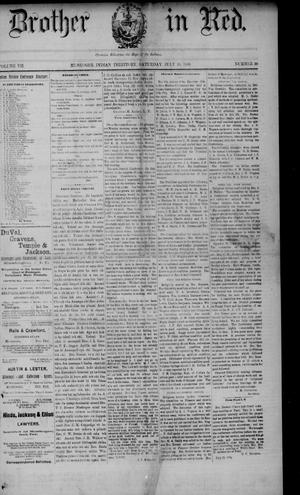 Primary view of Our Brother in Red. (Muskogee, Indian Terr.), Vol. 7, No. 30, Ed. 1 Saturday, July 20, 1889