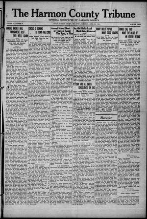Primary view of object titled 'The Harmon County Tribune (Hollis, Okla.), Vol. 11, No. 35, Ed. 1 Tuesday, April 12, 1921'.