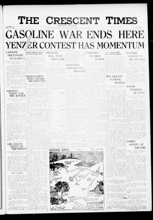 Primary view of The Crescent Times (Crescent, Okla.), Vol. 32, No. 36, Ed. 1 Thursday, June 22, 1939