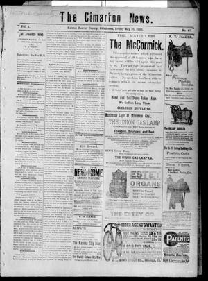 Primary view of object titled 'The Cimarron News. (Kenton, Okla.), Vol. 4, No. 41, Ed. 1 Friday, May 16, 1902'.