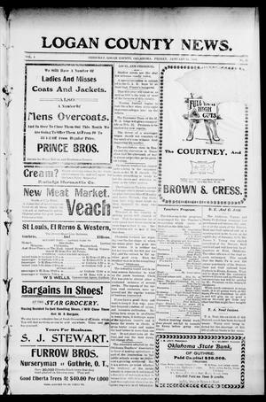 Primary view of object titled 'Logan County News. (Crescent, Okla.), Vol. 4, No. 20, Ed. 1 Friday, January 12, 1906'.