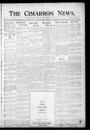 Primary view of object titled 'The Cimarron News. (Boise City, Okla.), Vol. 25, No. 43, Ed. 1 Thursday, May 24, 1923'.