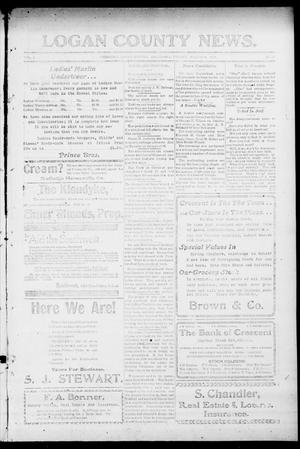 Primary view of object titled 'Logan County News. (Crescent, Okla.), Vol. 4, No. 29, Ed. 1 Friday, March 16, 1906'.