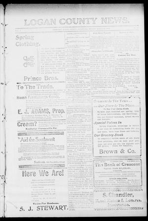 Primary view of object titled 'Logan County News. (Crescent, Okla.), Vol. 4, No. 30, Ed. 1 Friday, March 23, 1906'.