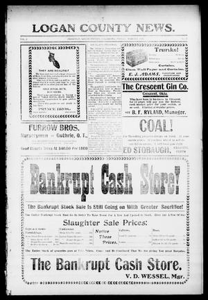 Primary view of object titled 'Logan County News. (Crescent, Okla.), Vol. 3, No. 27, Ed. 1 Friday, March 3, 1905'.
