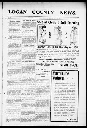 Primary view of object titled 'Logan County News. (Crescent, Okla.), Vol. 4, No. 31, Ed. 1 Friday, September 25, 1908'.