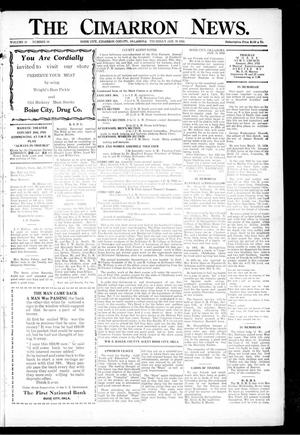 Primary view of object titled 'The Cimarron News. (Boise City, Okla.), Vol. 26, No. 26, Ed. 1 Thursday, January 24, 1924'.