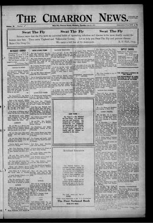 Primary view of object titled 'The Cimarron News. (Boise City, Okla.), Vol. 24, No. 47, Ed. 1 Thursday, June 22, 1922'.
