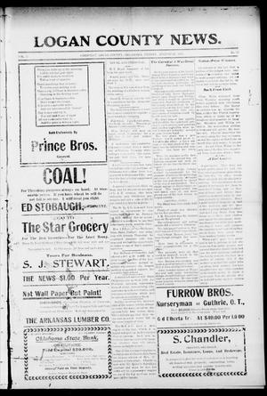 Primary view of Logan County News. (Crescent, Okla.), Vol. 3, No. 52, Ed. 1 Friday, August 25, 1905