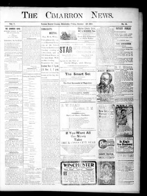 Primary view of object titled 'The Cimarron News. (Kenton, Okla.), Vol. 7, No. 13, Ed. 1 Friday, October 28, 1904'.