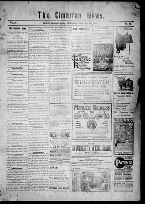 Primary view of object titled 'The Cimarron News. (Kenton, Okla.), Vol. 3, No. 42, Ed. 1 Friday, May 24, 1901'.