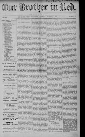 Primary view of Our Brother in Red. (Muskogee, Indian Terr.), Vol. 7, No. 6, Ed. 1 Saturday, October 13, 1888