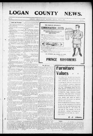 Primary view of object titled 'Logan County News. (Crescent, Okla.), Vol. 4, No. 31, Ed. 1 Friday, September 18, 1908'.