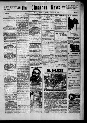 Primary view of object titled 'The Cimarron News. (Kenton, Okla.), Vol. 3, No. 28, Ed. 1 Friday, February 15, 1901'.