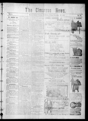 Primary view of object titled 'The Cimarron News. (Kenton, Okla.), Vol. 5, No. 21, Ed. 1 Friday, December 26, 1902'.