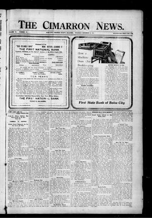 Primary view of object titled 'The Cimarron News. (Boise City, Okla.), Vol. 19, No. 17, Ed. 1 Thursday, November 23, 1916'.