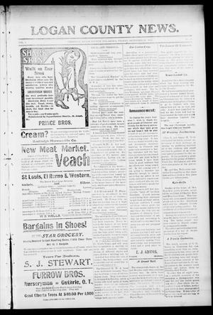 Primary view of object titled 'Logan County News. (Crescent, Okla.), Vol. 4, No. 18, Ed. 1 Friday, December 29, 1905'.