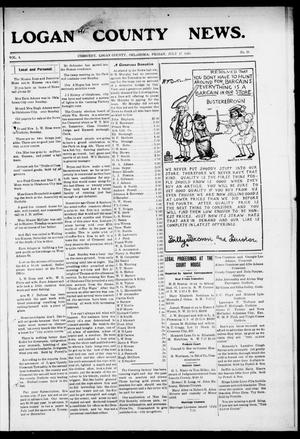 Primary view of object titled 'Logan County News. (Crescent, Okla.), Vol. 4, No. 31, Ed. 1 Friday, July 17, 1908'.