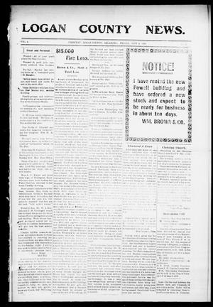 Primary view of object titled 'Logan County News. (Crescent, Okla.), Vol. 4, No. 31, Ed. 1 Friday, September 4, 1908'.