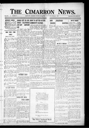 Primary view of object titled 'The Cimarron News. (Boise City, Okla.), Vol. 25, No. 47, Ed. 1 Thursday, June 21, 1923'.