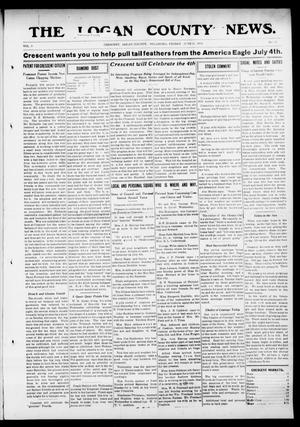 Primary view of object titled 'The Logan County News. (Crescent, Okla.), Vol. 9, No. 32, Ed. 1 Friday, June 21, 1912'.