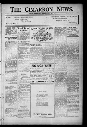 Primary view of object titled 'The Cimarron News. (Boise City, Okla.), Vol. 24, No. 34, Ed. 1 Thursday, March 23, 1922'.