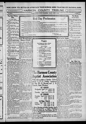 Primary view of object titled 'Harmon County Tribune (Hollis, Okla.), Vol. 5, No. 32, Ed. 1 Friday, April 2, 1915'.