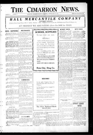 Primary view of object titled 'The Cimarron News. (Boise City, Okla.), Vol. 26, No. 10, Ed. 1 Thursday, October 4, 1923'.