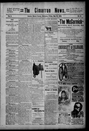 Primary view of object titled 'The Cimarron News. (Kenton, Okla.), Vol. 2, No. 42, Ed. 1 Friday, May 25, 1900'.
