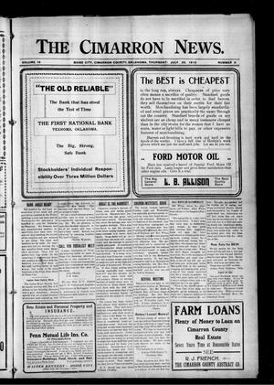Primary view of object titled 'The Cimarron News. (Boise City, Okla.), Vol. 18, No. 2, Ed. 1 Thursday, July 29, 1915'.