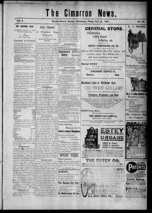 Primary view of object titled 'The Cimarron News. (Kenton, Okla.), Vol. 3, No. 50, Ed. 1 Friday, July 19, 1901'.