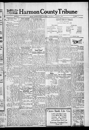 Primary view of object titled 'Harmon County Tribune (Hollis, Okla.), Vol. 9, No. 10, Ed. 1 Thursday, October 24, 1918'.