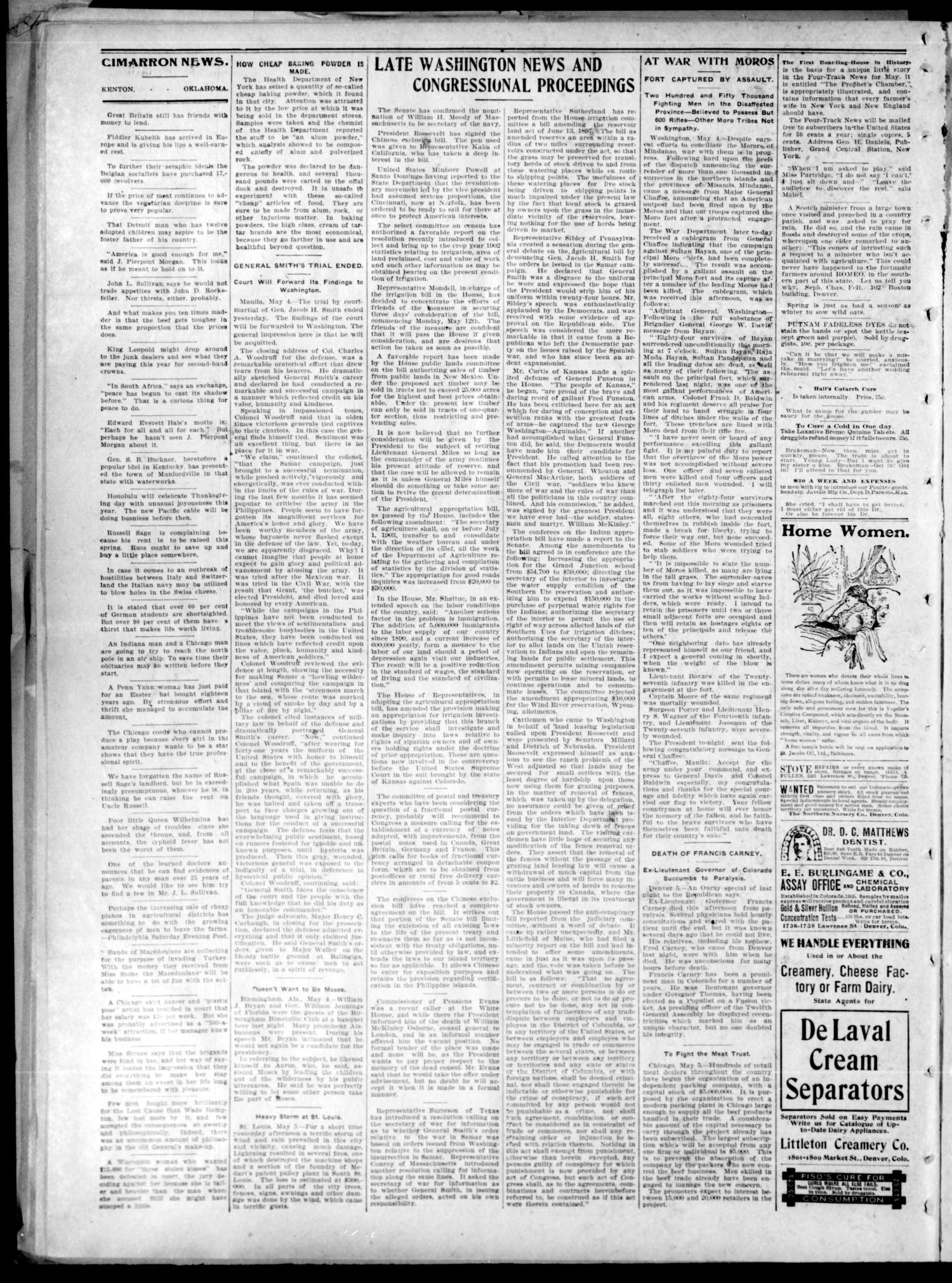 The Cimarron News. (Kenton, Okla.), Vol. 4, No. 40, Ed. 1 Friday, May 9, 1902                                                                                                      [Sequence #]: 2 of 4