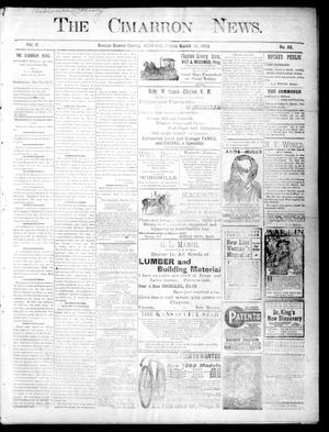Primary view of object titled 'The Cimarron News. (Kenton, Okla.), Vol. 6, No. 32, Ed. 1 Friday, March 11, 1904'.