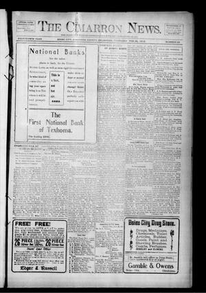 Primary view of object titled 'The Cimarron News. (Boise City, Okla.), Vol. 14, No. 33, Ed. 1 Thursday, February 29, 1912'.