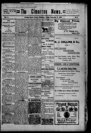 Primary view of object titled 'The Cimarron News. (Kenton, Okla.), Vol. 2, No. 6, Ed. 1 Friday, September 15, 1899'.