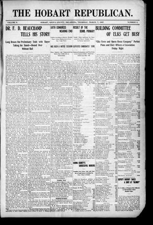 Primary view of The Hobart Republican. (Hobart, Okla.), Vol. 7, No. 2, Ed. 1 Thursday, March 7, 1907